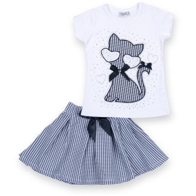 Набор детской одежды Breeze с котом и бантом (8834-104G-blue)